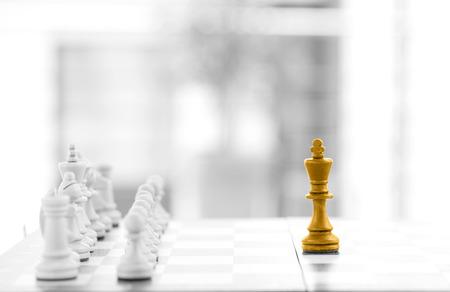 management team: Chess business concept, leader & success
