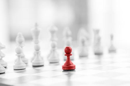Ajedrez concepto de negocio, el líder y el éxito