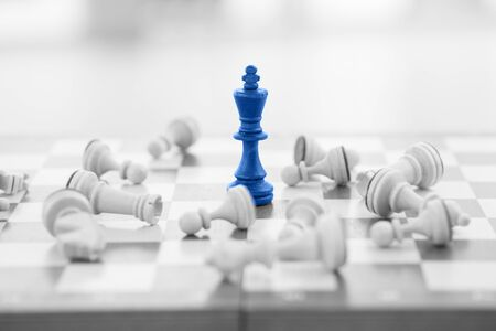 Schaken business concept, leider & succes