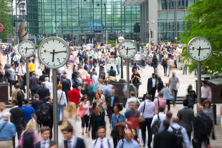 LONDON, ENGLAND - JULY 10, 2015: Canary Wharf is the London business zone & Financial District. Canary Wharf is a station on the Jubilee Line, between Canada Water and North Greenwich.