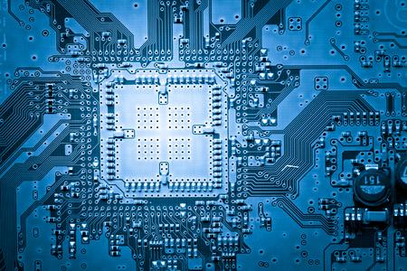 Web デザインの背景、コンピューター回路基板 写真素材