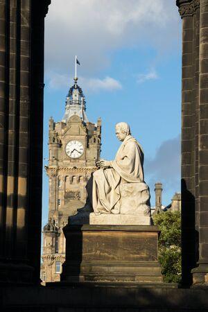 sir walter scott: Walter Scotts monument. Edinburgh. Scotland. UK.