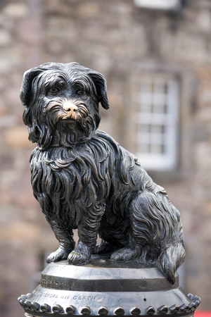 bobby: Sculpture of Greyfriars Bobby, Edinburgh, Scotland