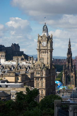 scot: Edinburgh city from Calton Hill, Scotland, uk,