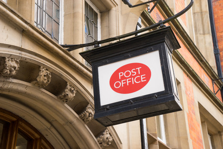 old fashioned: Classic old fashioned post office sign