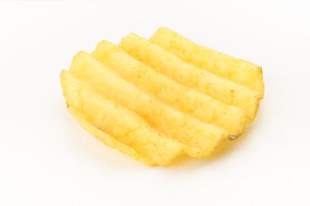 nosh: Set of potato chips close-up