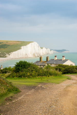 seven sisters: Cottages & 7 Seven Sisters, Brighton, England Stock Photo