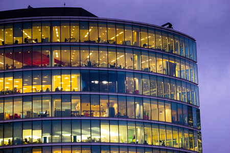 office building exterior: Business office building in London, England Editorial