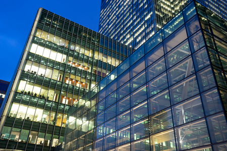 Business office building in London, England, UK Standard-Bild