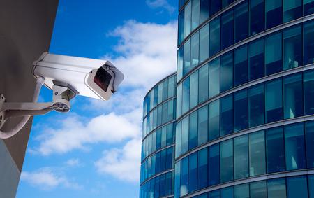Bezpieczeństwa kamery CCTV w budynku biurowym Zdjęcie Seryjne