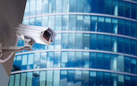 technology security: Security CCTV camera in office building