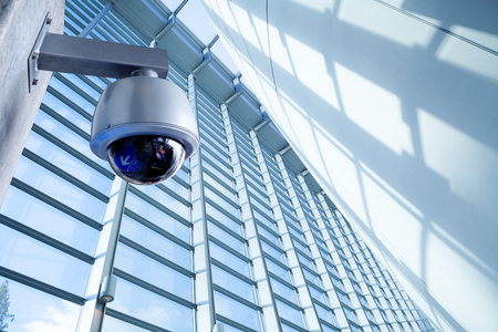 Security CCTV camera in office building
