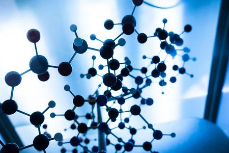 molecula: Estructura Ciencia Mol�cula de ADN Modelo, trabajo en equipo concepto de negocio