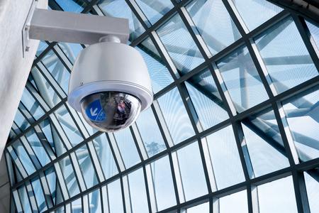 セキュリティ カメラ、CCTV の場所、空港 写真素材