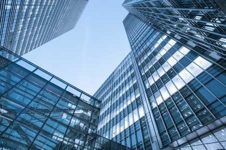 Windows of Skyscraper Business Office, Corporate building in London City, England, UK Stock Photo - 51785494