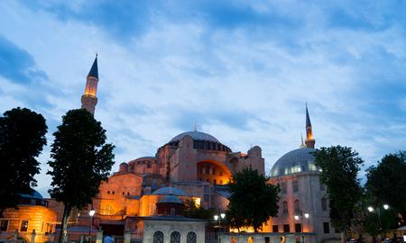 blue mosque: Hagia Sophia, sultan ahmed blue mosque, Istanbul Turkey Stock Photo