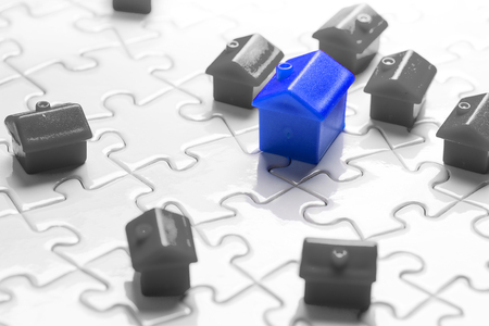 estate: Property & real estate market game Stock Photo