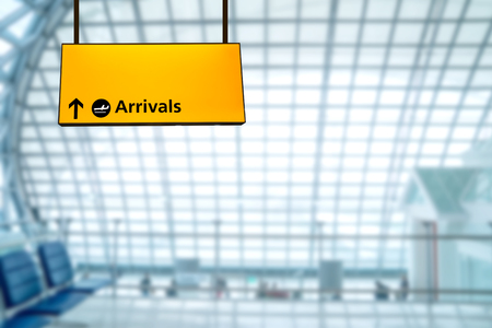 airport sign: Airport sign deporture and arrival board
