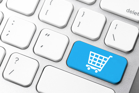 e work: Online shopping cart icon for e-commerce concept Stock Photo