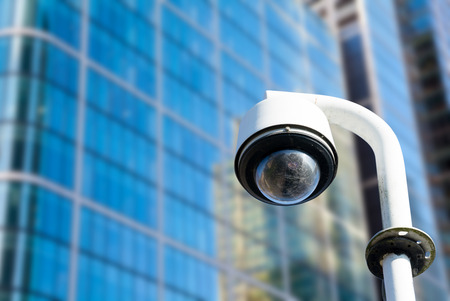 alertness: Security, CCTV camera in the office building Stock Photo