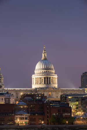 millennium: Millennium bridge and St. Paul, London, UK Stock Photo