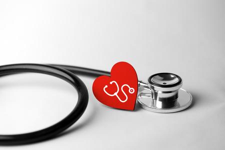 gezondheidszorg en medische concept, close-up van de stethoscoop Stockfoto