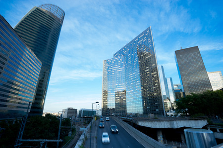 La Defense office building in Paris, France