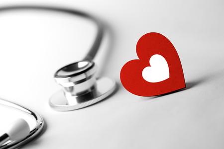 gezondheidszorg en medische concept, close-up van stethoscoop Stockfoto