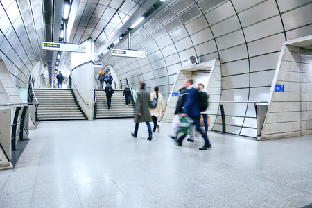 London train tube station in rush hour