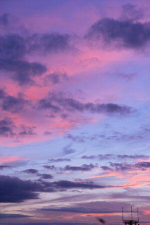Sunset Sky Background Stock Photo