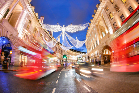 regent: Shopping at Oxford Street, Christmas day Stock Photo