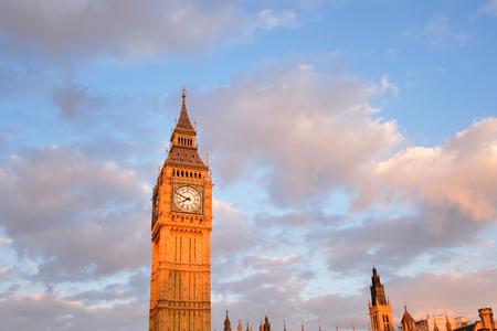 trafalgar: Big Ben and Westminster abbey in London, England Editorial