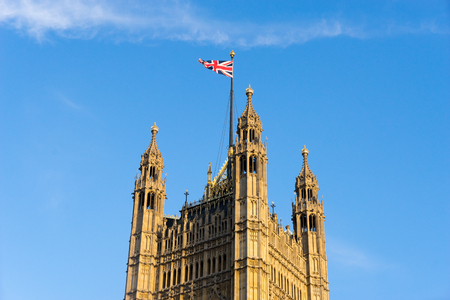 Big Ben and Westminster abbey in London, England 版權商用圖片