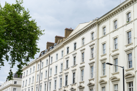 edwardian: British style building, South Kensington, London Stock Photo