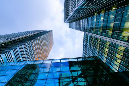 futuristic interior: London office building skyscraper, working & meeting Stock Photo
