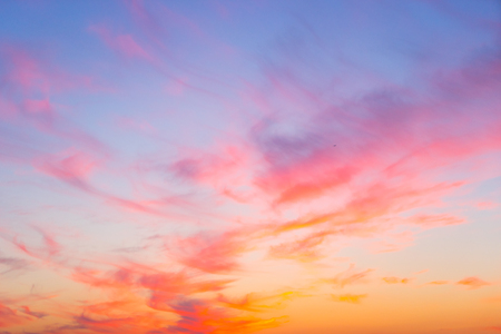 Sunset sky background Stock Photo