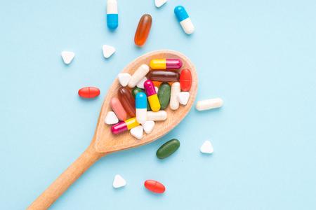 Medicine, tablet, vitamin and drug in various shape