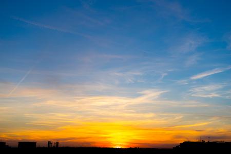nebulosity: Sunset sky background Stock Photo