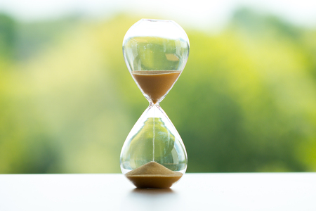 Sand clock, business time management concept Stockfoto