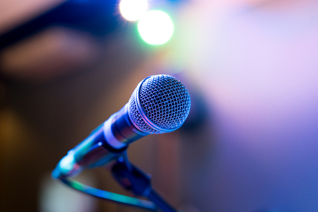 Microphone in party or concert