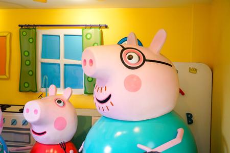 SOUTHAMPTON, ENGELAND, 14 juli 2018: The Peppa Pig World is in Paultons Park gelegen in Romsey, Hampshire, Engeland. Dit park heeft ongeveer 70 attracties en attracties.