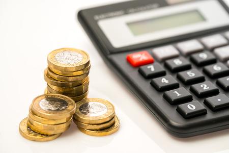 New one pound coin in studio, Finance concept Archivio Fotografico