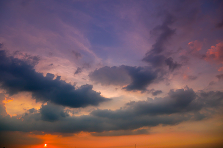 Sunset Sky Background in summer 免版税图像