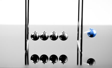 Newtons Cradle Balancing Balls, Geschäftskonzept im Studio