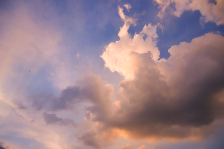 Sunset Sky Background in summer Stock Photo