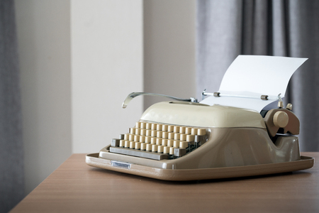 Retro style typewriter in studio