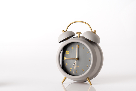 Modern Alarm clock, business concept time management Stock Photo