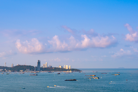 Pattaya beach and city, Thailand