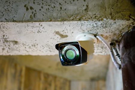 CCTV camera in restaurant, office Stock Photo