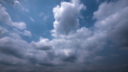 Strom & rainy cloud sky Stock Photo